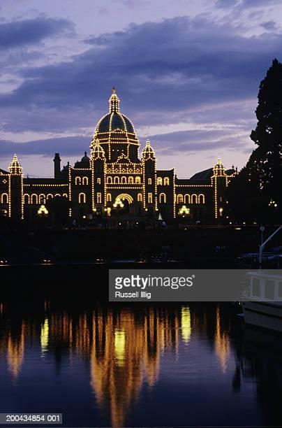 Canada, British Columbia, Victoria, parliament building, night