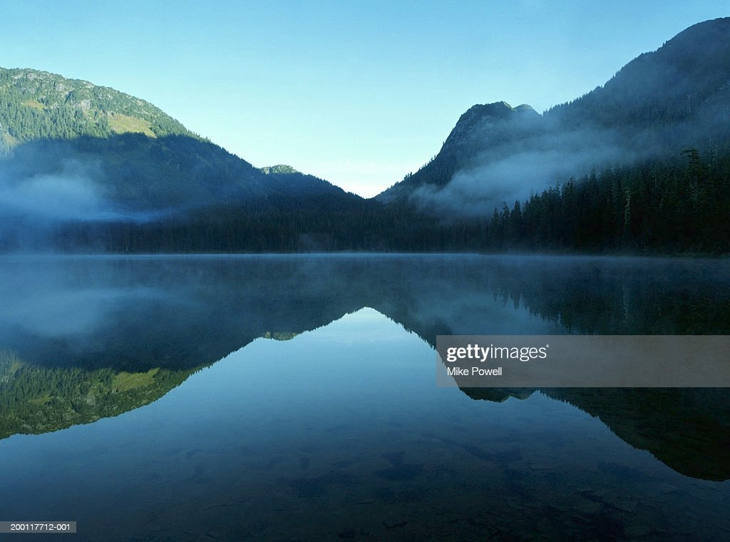 Canada, British Columbia, Whistler, Madely Lake, cover with fog : Stock Photo