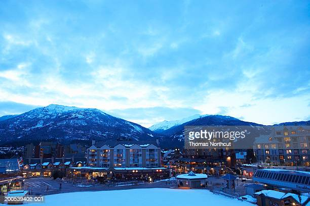 Canada, British Columbia, Whistler Village and mountains