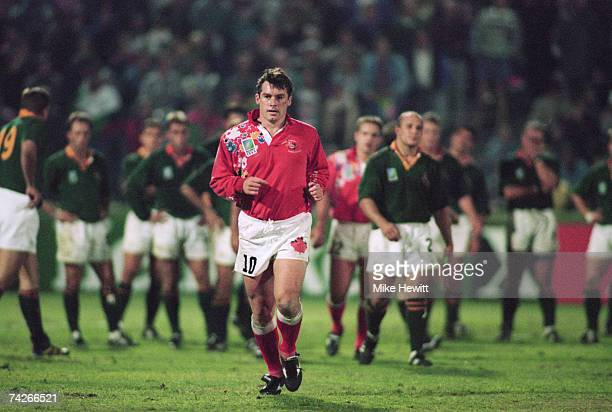Canada captain Gareth Rees is sent off during a Rugby World Cup match against South Africa in Port Elizabeth 3rd June 1995 South Africa won 200