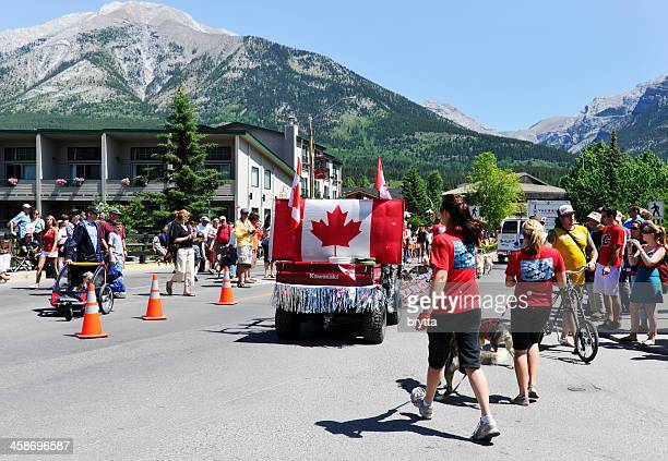 Canada Day parade in Canmore, Alberta,Canada
