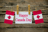 Canada Day Greeting card or background.