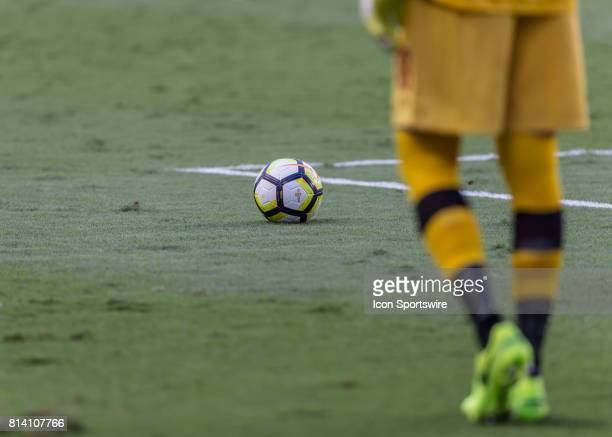 Canada goalkeeper Milan Borjanm prepares to send the ball into play during the CONCACAF Gold Cup Group A match between Costa Rica and Canada on July...
