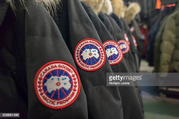 Canada Goose brand parkas in a store in New York on Friday December 18 2015 Manufacturers and retailers of outerwear such as Columbia and North Face...