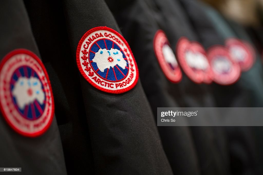 HILL ON OCTOBER 11 Canada Goose parkas hang on display at the soon to be opened Sporting Life in Richmond Hill Sporting Life is renown for their...