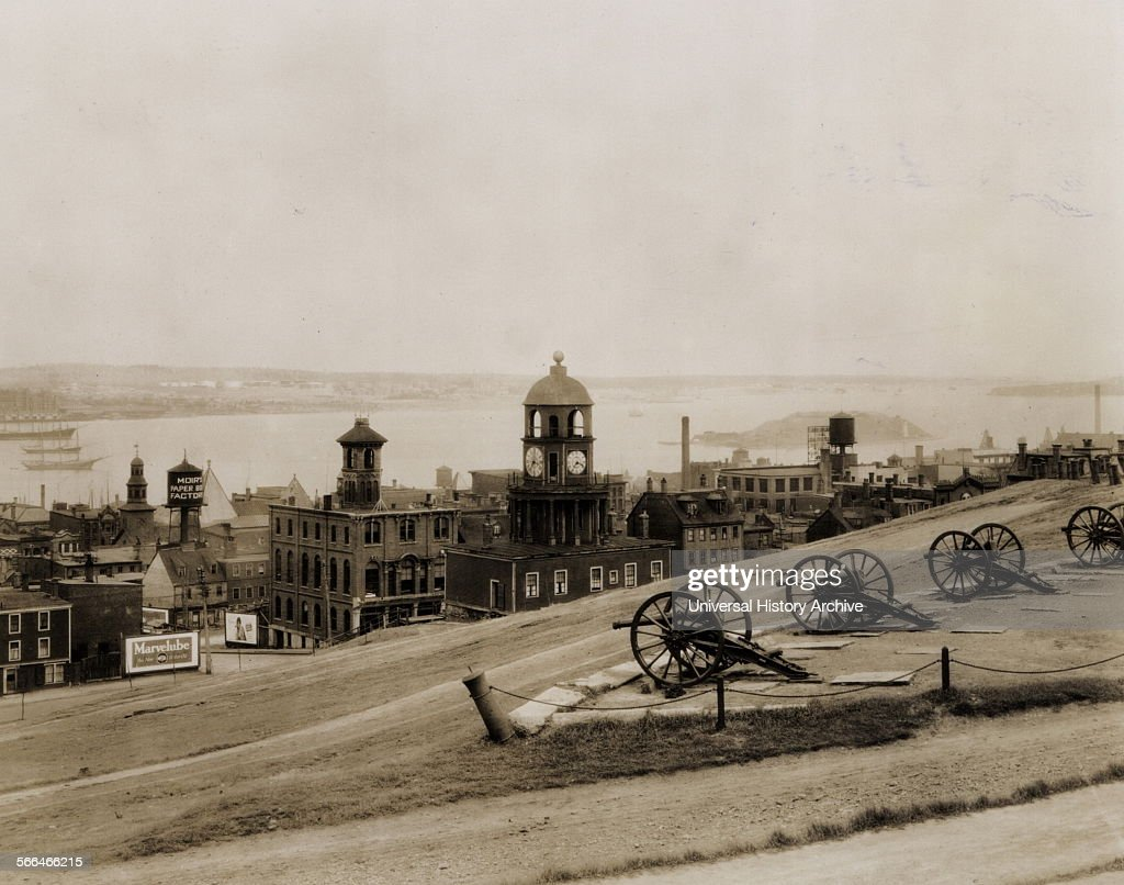 Halifax Town seen from Citadel Hill 1920