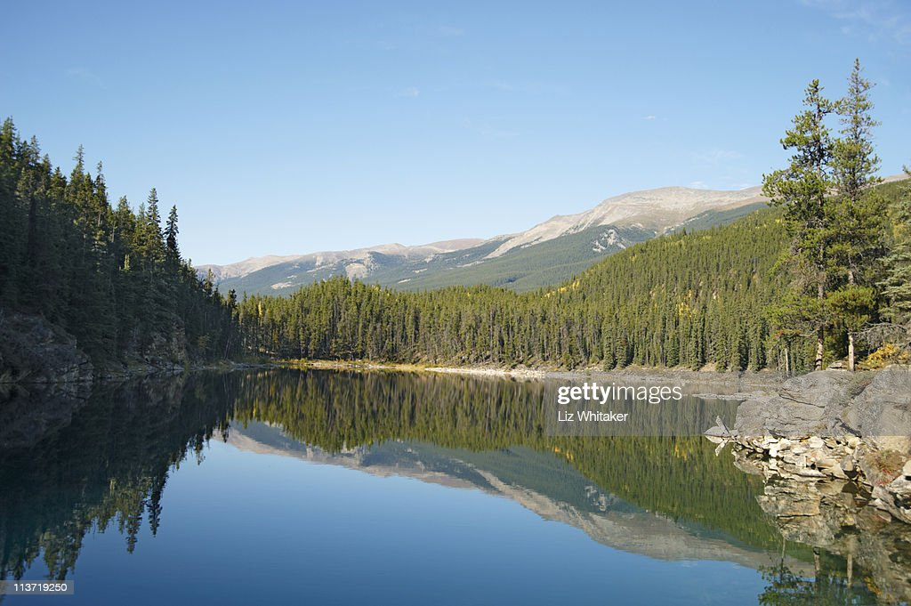 Canada, Jasper National Park, Horseshoe Lake : Stock Photo