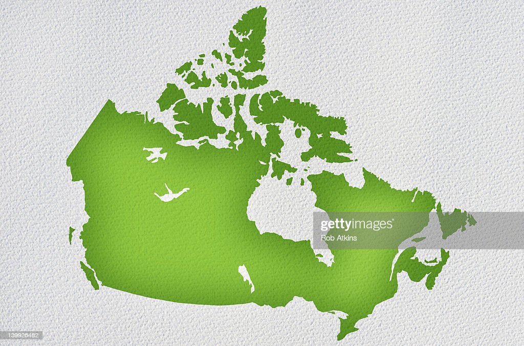 Canada Map : Stock Photo