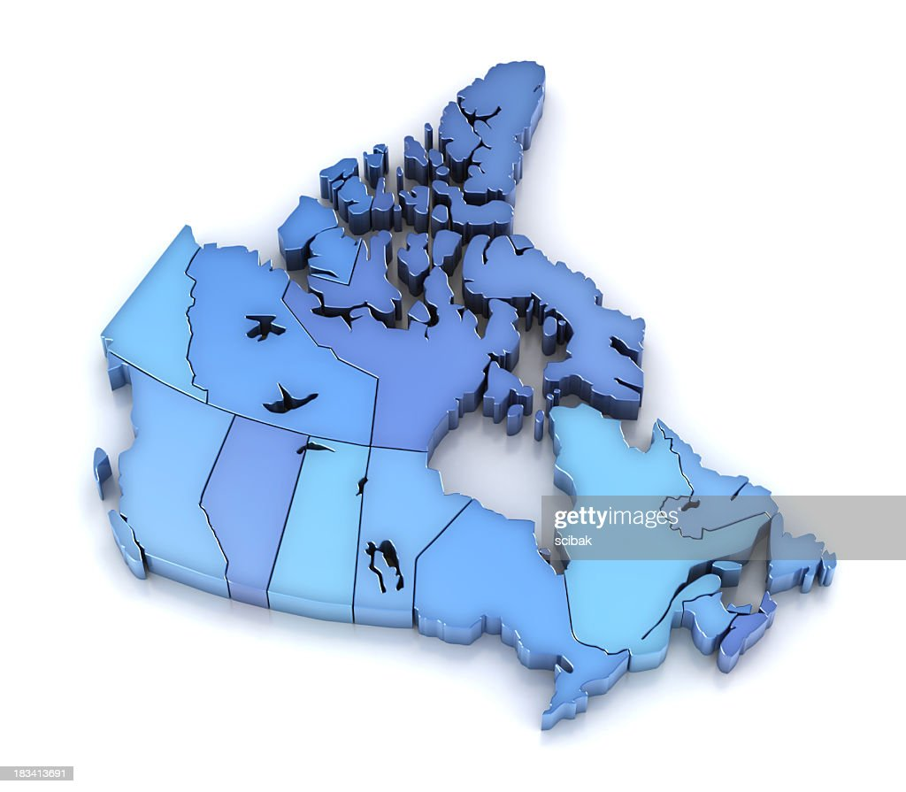 Canada Map With Provinces And Territories Stock Photo Getty Images