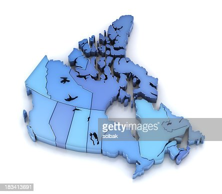 Canada map with provinces and territories