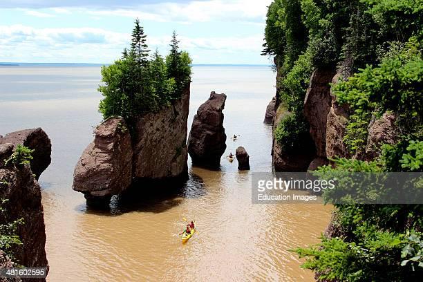 Canada New Brunswick Atlantic Coast Bay of Fundy Chocolate River Hopewell Rocks