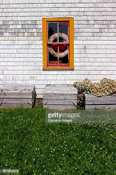 Canada Nova Scotia Atlantic Maritime Provinces Lunenburg Blue Rocks lobster shack window