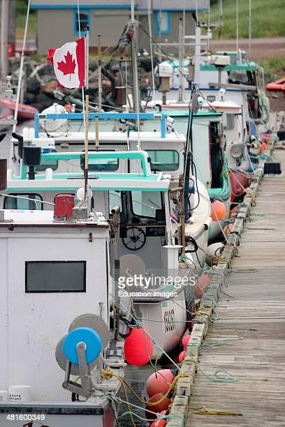Canada Nova Scotia Cape Breton cabot trail harbor fishing boats Atlantic Coast lobster boats Limbo Cove