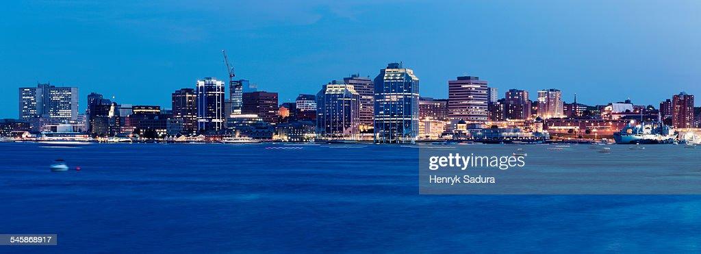 Canada, Nova Scotia, Halifax, Panoramic view of city