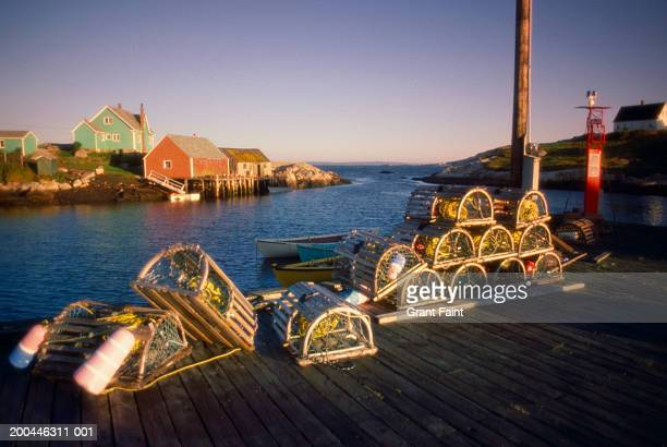 Canada, Nova Scotia, Peggy's Cove, fishing port, dawn