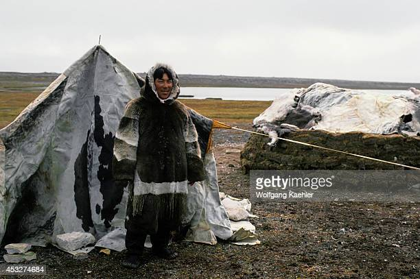 Canada Nunavut Hudson Bay South Hampton Island Native Pt Traditional Inuit Summer Hunting Camp
