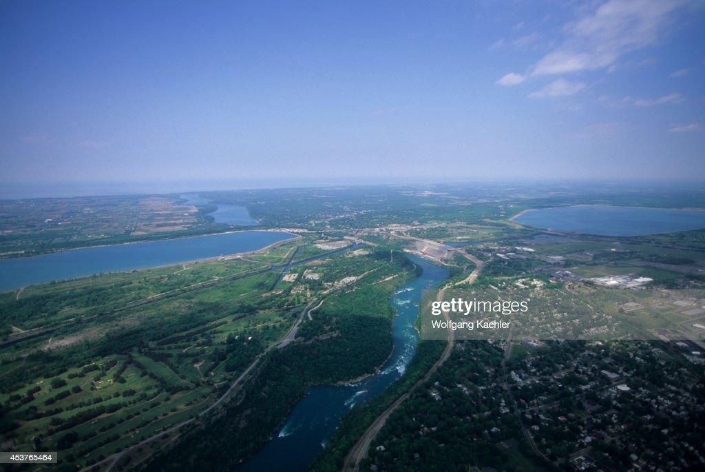 Canada Ontario Niagara Falls Gorge Niagara River Aerial View