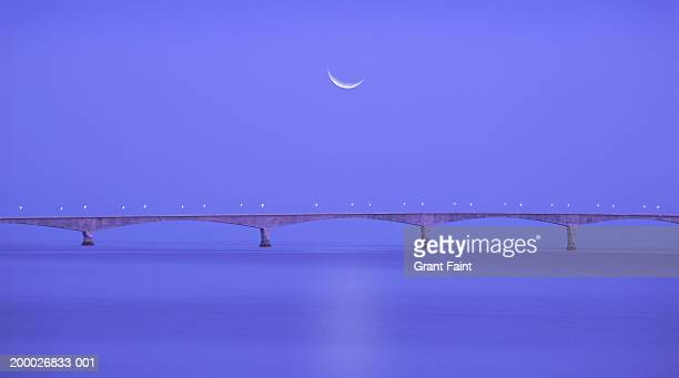 Canada, Prince Edward Island, Confederation Bridge, twilight