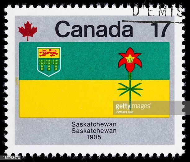 Canadá Saskatchewan Bandeira da Província de Selo Postal