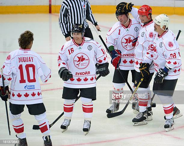 Canada team during the friendly match between Canada Team and USSR Team during the 40th anniversary of Summit Series 1972 on September 5 2012 at the...