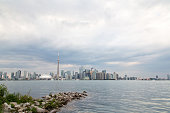Photo of the Toronto Skyline from the inner harbour