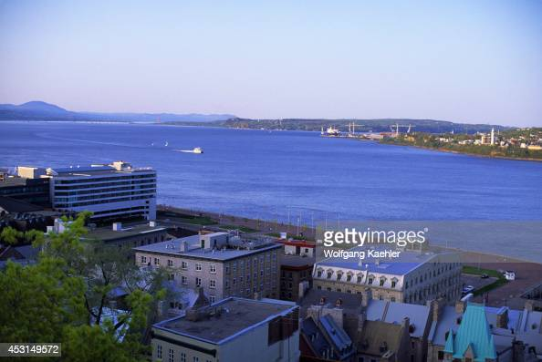 Canadaquebecquebec City View Of St Lawrence River