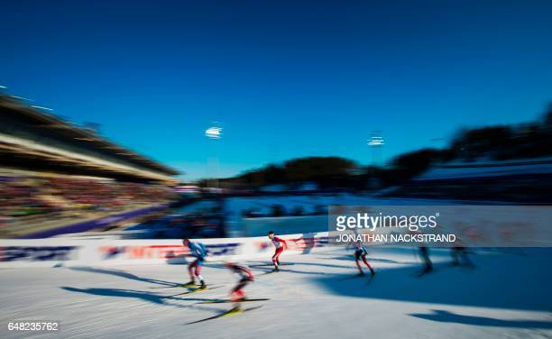 TOPSHOT Canada's Alex Harvey competes at the men 50 km Mass Start Free event of the 2017 FIS Nordic World Ski Championships in Lahti Finland on March...