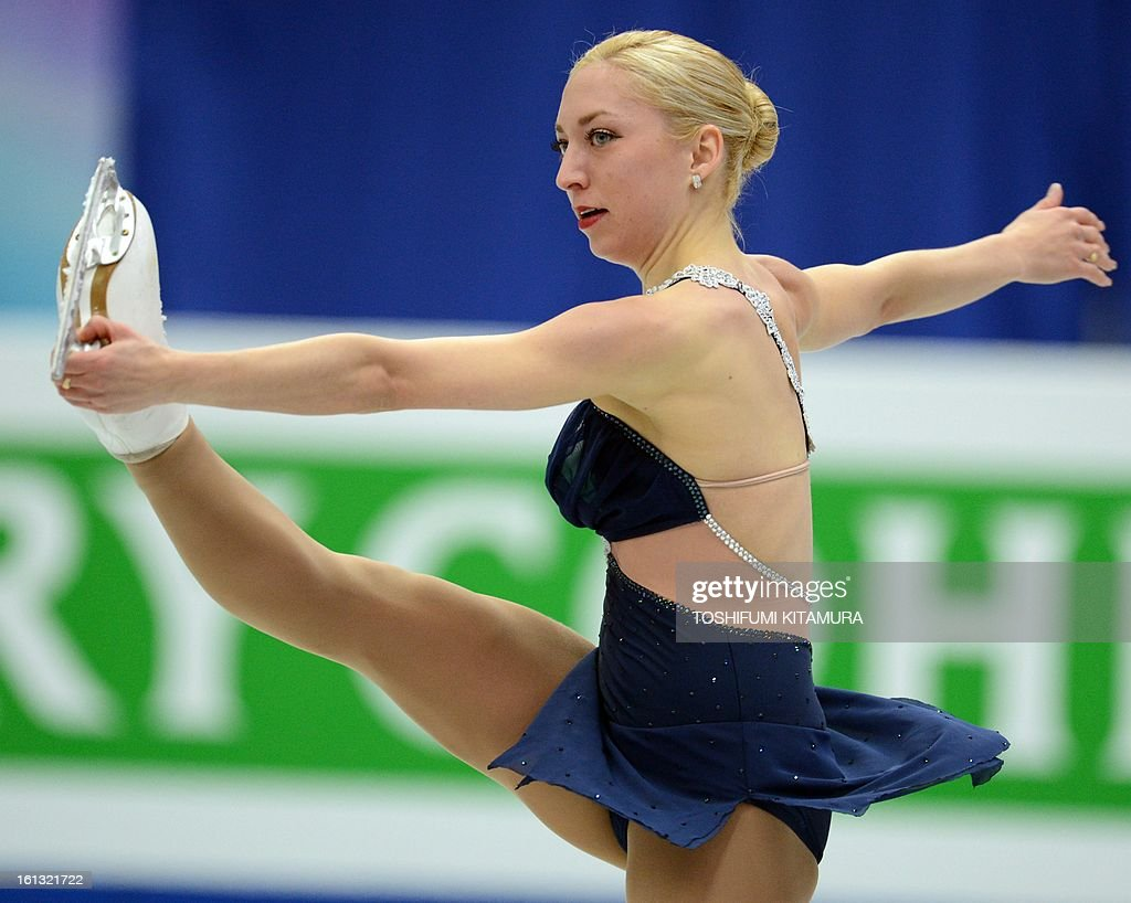 Canada's Amelie Lacoste performs in the ladies free skating event at the Four Continents figure skating championships in Osaka on February 10, 2013. AFP PHOTO / TOSHIFUMI KITAMURA