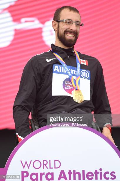 Canada's Brent Lakatos after winning gold in the Men's 100m T53 Final during day ten of the 2017 World Para Athletics Championships at London Stadium