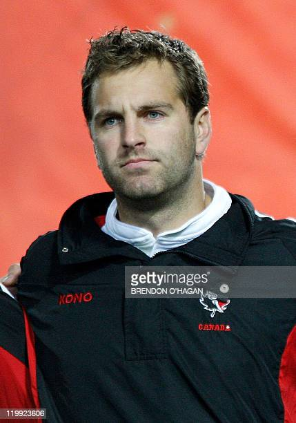 Canada's Craig Culpan looks on before a match between New Zealand's All Black and Canada at the Waikato stadium in Hamilton New Zealand 16 June 2007...