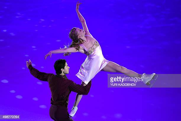Canada's dance pair Kaitlyn Weaver and Andrew Poje perform during the gala exhibition of the ISU Grand Prix Figure skating Rostelekom Cup in Moscow...