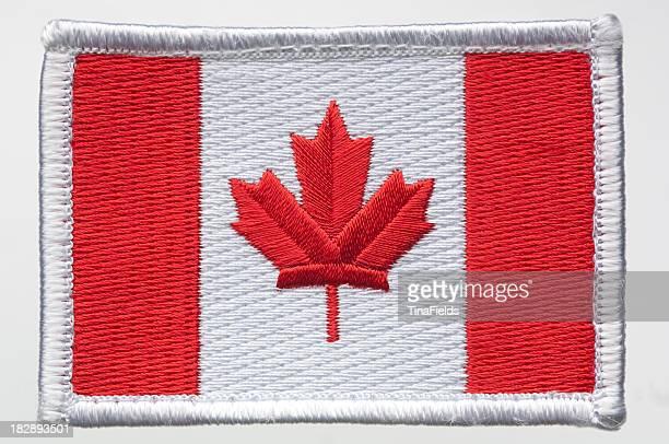 カナダの国旗パッチ。