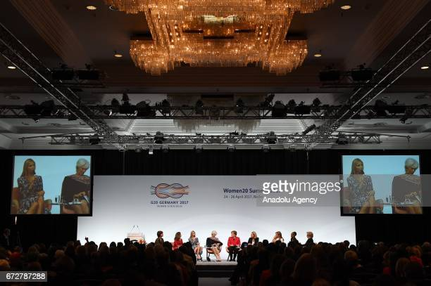 Canada's Foreign Minister Chrystia Freeland Ivanka Trump daughter and adviser of US President Donald Trump International Monetary Fund Managing...