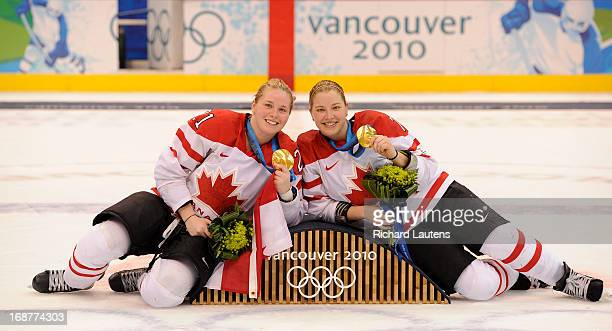 Canada's Haley Irwin and Canada's Cherie Piper Canada beat USA 20 for the gold medal The Women's hockey gold medal game was held today between Canada...