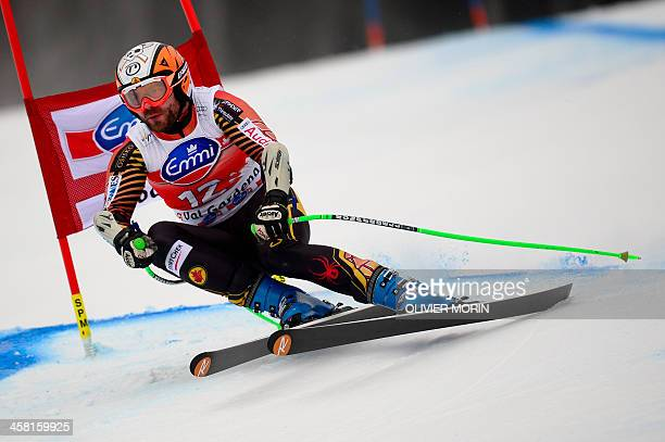 Canada's Jan Hudec competes during the FIS Alpine World Cup Men's SuperG on December 20 2013 in Val Gardena AFP PHOTO / OLIVIER MORIN