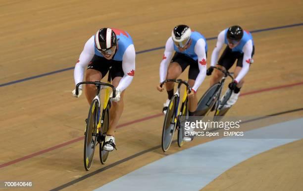 Canada's Joseph Veloce Vincent de Haitre and Hugo Barrette in their Men's Team Sprint Qualifier