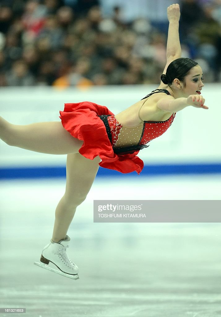 Canada's Kaetlyn Osmond performs in the ladies free skating event at the Four Continents figure skating championships in Osaka on February 10, 2013.