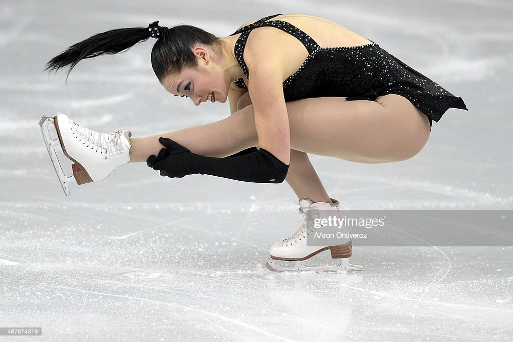 Canada's <a gi-track='captionPersonalityLinkClicked' href=/galleries/search?phrase=Kaetlyn+Osmond&family=editorial&specificpeople=9891099 ng-click='$event.stopPropagation()'>Kaetlyn Osmond</a> tucks en route to a 62.54 in ladies short program during team figure skating. Sochi 2014 Winter Olympics on Saturday, February 8, 2014.