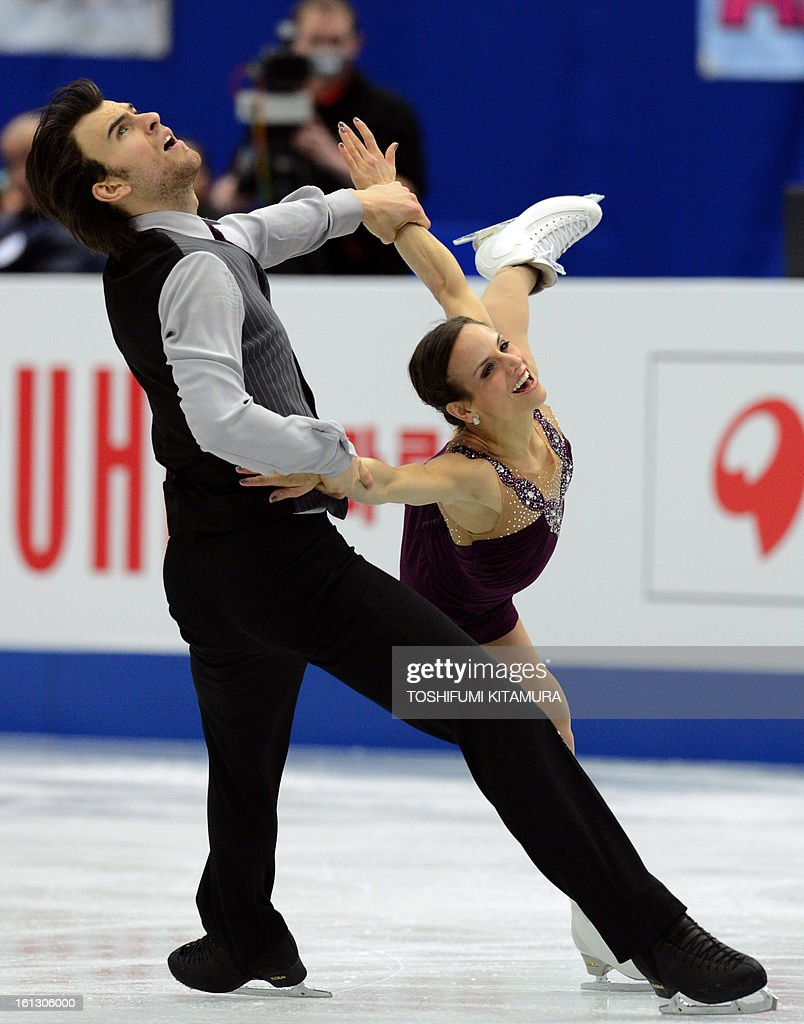 Canada's Meagan Duhamel (R) and Eric Radford perform their free skating performance in the pairs event during the Four Continents figure skating championships in Osaka on February 10, 2013.
