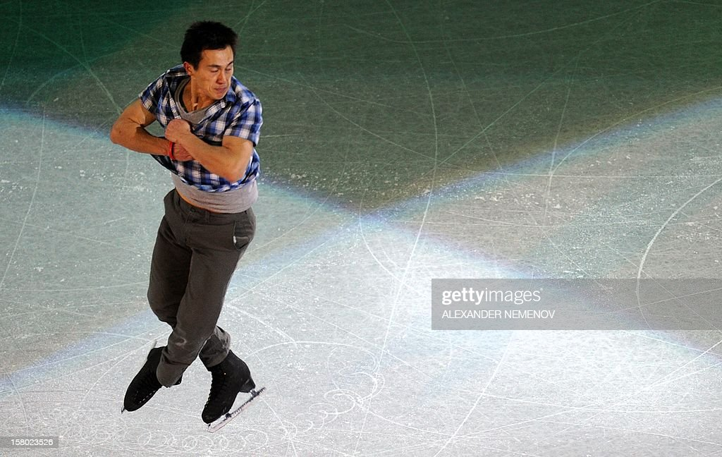 Canada's Patrick Chan performs during gala exhibition at the ISU Grand Prix of Figure Skating Final in Sochi on December 9, 2012.