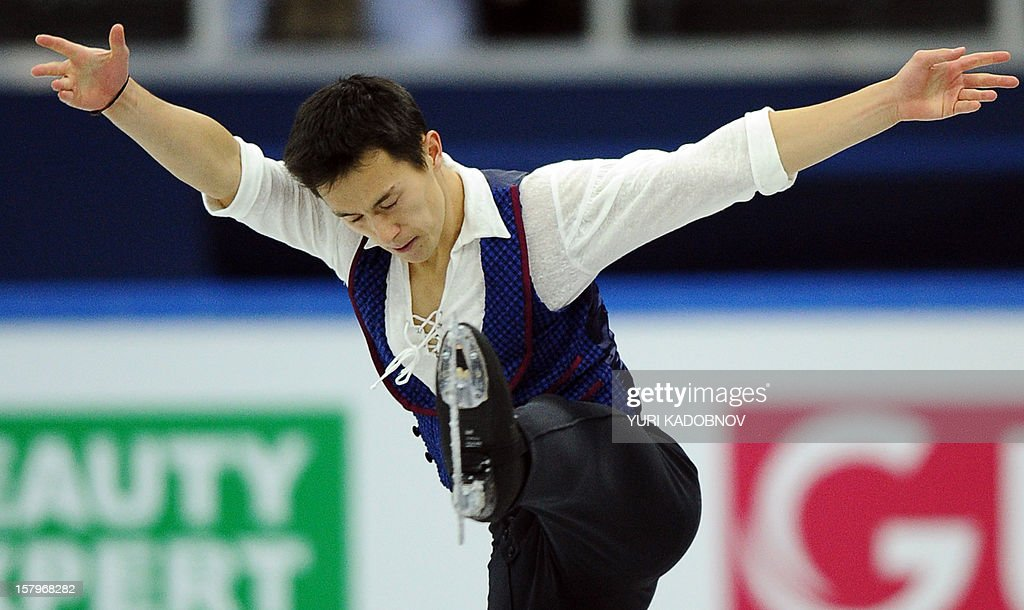 Canada's Patrick Chan performs during his men free skating at the ISU Grand Prix of Figure Skating Final in Sochi on December 8, 2012. AFP PHOTO/ YURI KADOBNOV