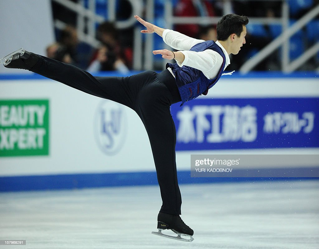 Canada's Patrick Chan performs during his men free skating at the ISU Grand Prix of Figure Skating Final in Sochi on December 8, 2012. AFP PHOTO/ YURI KADOBNOV