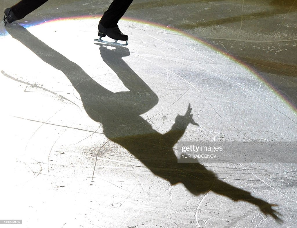 Canada's Patrick Chan performs during the exhibition gala of the World Figure Skating Championships on March 28, 2010 at the Palavela ice-rink in Turin.
