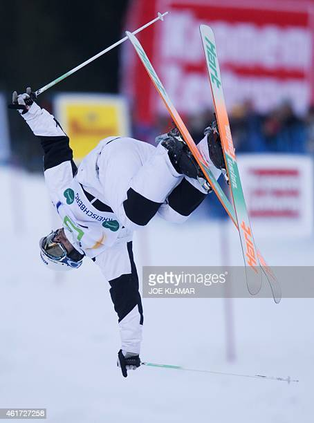 Canada's Philippe Marquis competes during the Men's Moguls final of FIS Freestyle and Snowboarding World Ski Championships 2015 in Kreischberg...