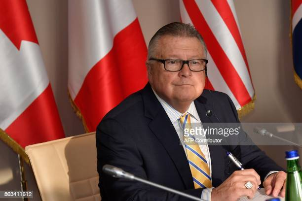 Canada's Public Safety Minister Ralph Goodale looks on as he attends before a working session at the G7 summit of Interior Ministers with European...