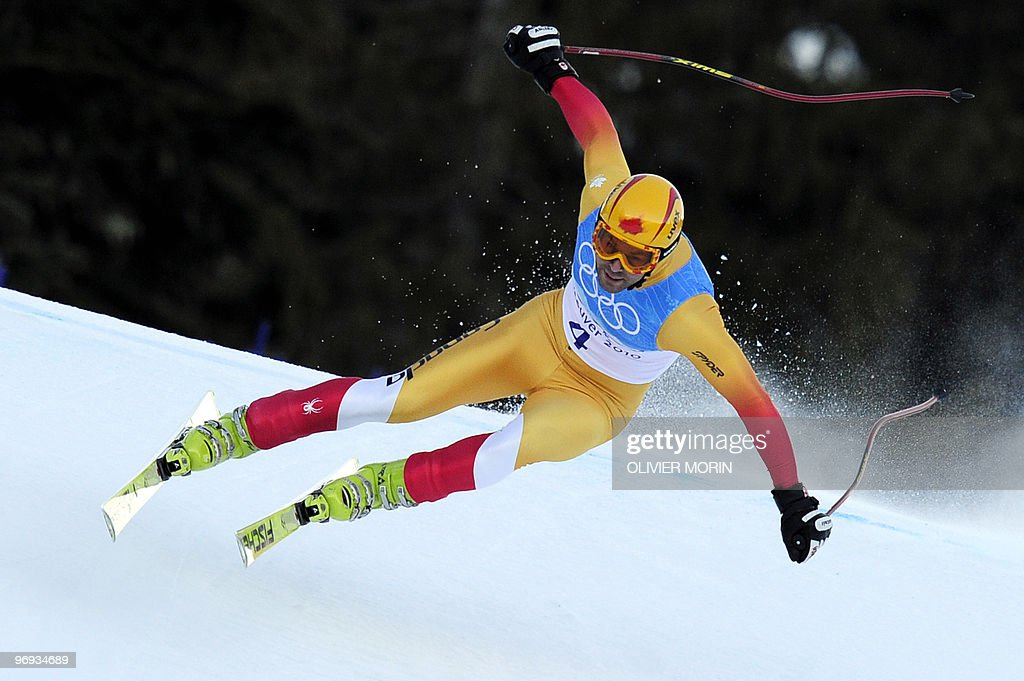 Canada's Ryan Semple is seen during the Men's Vancouver 2010 Winter Olympics Super Combined event at Whistler Creek side Alpine skiing venue on February 21, 2010.