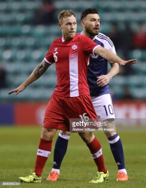 Canada's Scott Arfield and Scotland's Robert Snodgrass during the International Friendly match at Easter Road Edinburgh