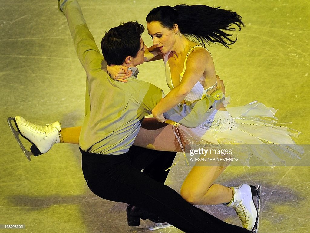 Canada's Tessa Virtue and Scott Moir perform during gala exhibition at the ISU Grand Prix of Figure Skating Final in Sochi on December 9, 2012.