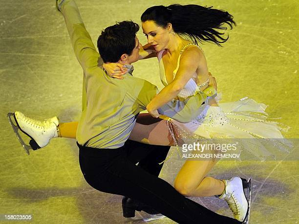 Canada's Tessa Virtue and Scott Moir perform during gala exhibition at the ISU Grand Prix of Figure Skating Final in Sochi on December 9 2012AFP...