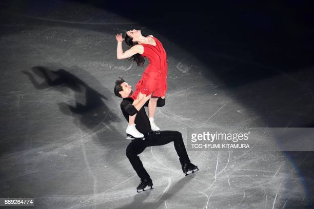 Canada's Tessa Virtue and Scott Moir perform during the gala exhibition at the Grand Prix of Figure Skating final in Nagoya on December 10 2017 / AFP...